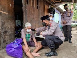 Tim Warung Jum'at Barokah Polda Banten Salurkan Puluhan Paket Sembako
