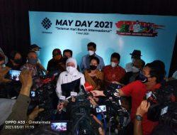 May Day Menteri Tenaga Kerja Kunjungi BBPLK, Ida Fauziyah Katakan 18 Ribu Paket Lebaran untuk Buruh