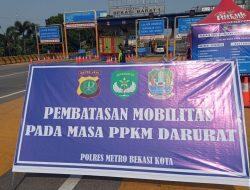 Tol Bekasi Timur dan Barat Menuju Jakarta ada Penyekatan, Ini Jadwal Buka Tutupnya