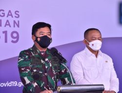 Panglima TNI Tinjau Pelatihan Tracer Digital Bagi Babinsa, Babinpotmar dan Babinpotdirga di BNPB