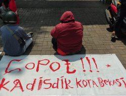 Dianggap Kadis Ingkar Janji, GmnI Bekasi Gelar Aksi Demo di Depan Kantor Disdik