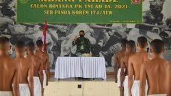 Menyiapkan Calon Prajurit Berkualitas, Danrem Merauke Pimpin Sidang Parade Penerimaan Bintara PK TNI AD Tahun 2021