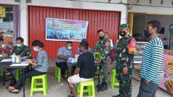Strategi Jitu Aparat TNI di Kab. Mimika Gencarkan Serbuan Vaksinasi
