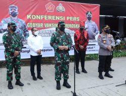 Panglima TNI Tinjau Vaksinasi Covid-19, Pedagang Pasar Induk Lau Cih Ucapkan Terima Kasih