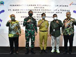 Korem 074/Warastratama Bersinergi Dengan Bank Jateng Launching Pelatihan UMKM Digital Kepada Babinsa